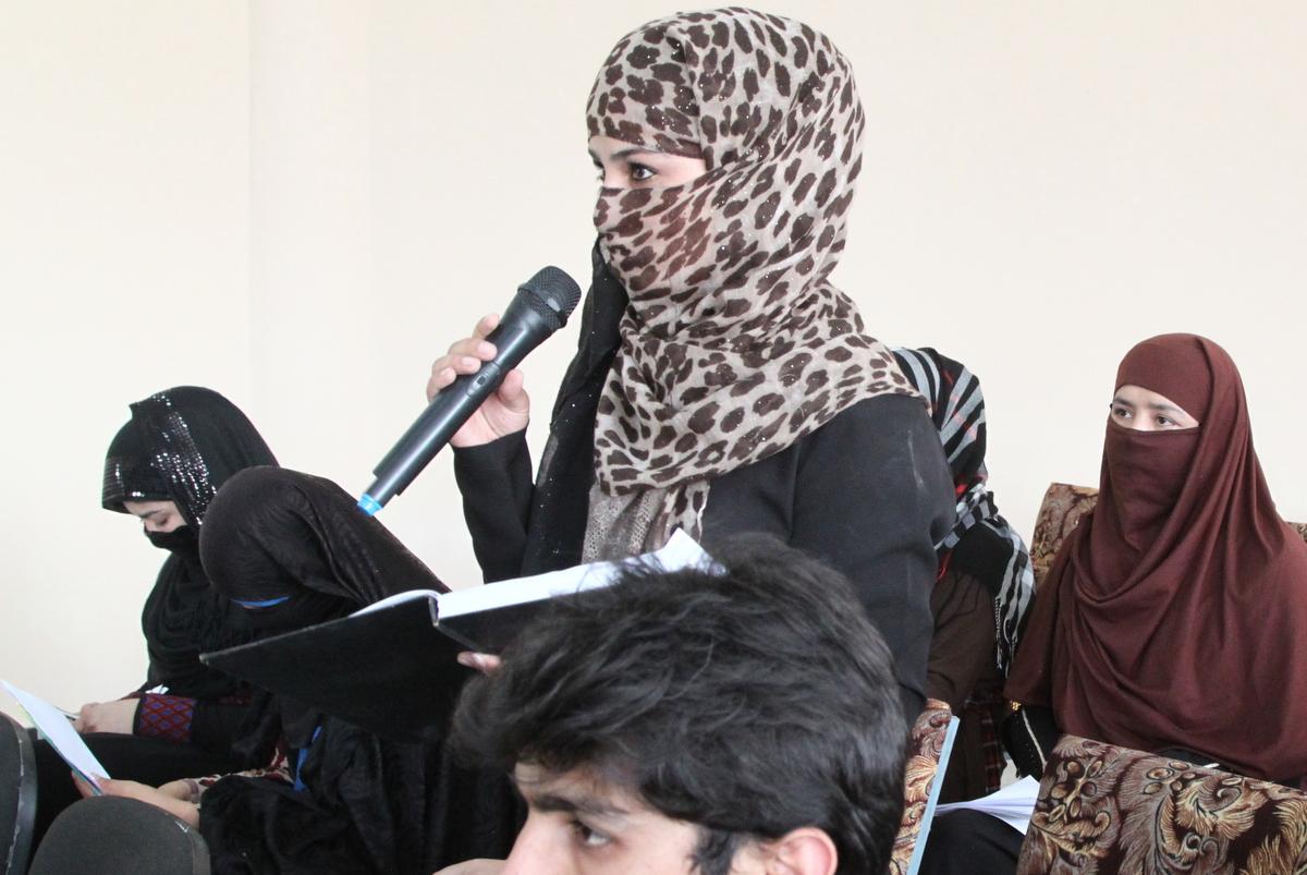 Teen girls in Baghlan