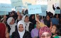 Hundreds of women activists in Dai Kundi urge UN to support their call for justice