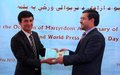 Two Afghan journalists awarded for bravery