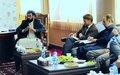 UN officials meet with Tirin Kot leaders on local peace, development