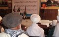 Peace and literacy key to Baghlan development says Governor at UNAMA-backed event