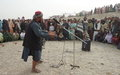 Street theatre in Kandahar promotes the rights of children in armed conflict